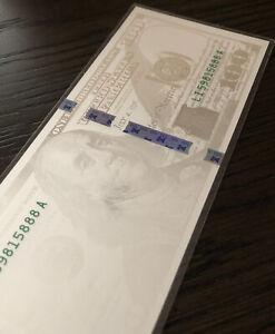 5 Gram Benjamin Franklin Silver Note Design Of $100 Dollar Bill .999 FS Note