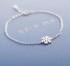 925 Sterlingsilber Damen Armband Armbänder Schneeflocke Stern Silber Filigran