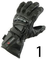 Gants noirs en kevlar pour motocyclette Femme