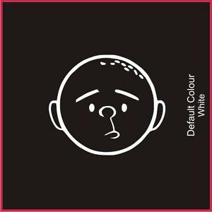 Karl Pilkington Decal, Funny, Vinyl, Sticker, Graphics Car, Idiot abroad, N2023