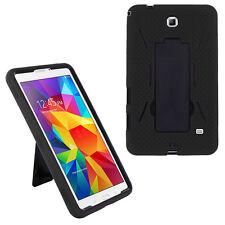 "Hybrid Rugged Stand Hard Case Cover for Samsung Galaxy Tab 4 7"" 7.0 (Black)"