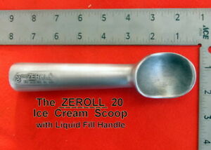 Zeroll  20  Ice Cream Scoop with Liquid in Handle  Light Brown Tip  Vintage Used