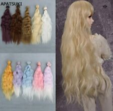 25cm*1m Doll Wigs DIY Doll Curly Wavy Wigs Colorful Hair For 1/3 1/4 1/6 SD doll