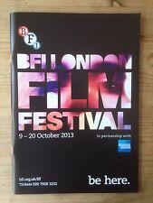 BFI LONDON FILM FESTIVAL 2013 112-PAGE COLOUR PROGRAMME NEW & MINT