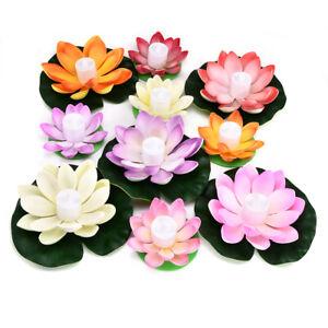 Battery Powered LED Lotus-Flower Light Floating LED Lotus Light Lamp Wishing