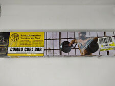 Golds Gym Combo Curl Bar Standard Ez Bar w/Lock Collars