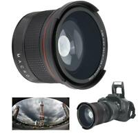 58MM 0.35X Fisheye Super Wide Angle Lens for SLR DSLR Camera Accessories Black