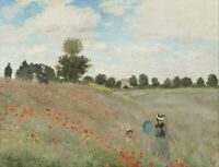 Paintings By Claude Monet - Poppy Field - Top Quality Canvas Print