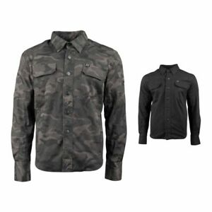 Speed and Strength Call to Arms 2.0 Mens Armored Moto Shirt with Snap down co...