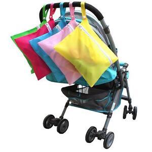 Waterproof Baby Pram Stroller Dirty Cloth Diaper Nappy Storage Organizer Bag Q