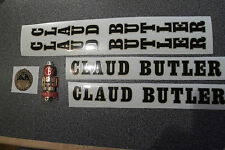 CLAUD BUTLER decal set AND METAL BADGE. black/gold decals. Stunning quality!