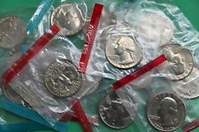 1970 thru 1979 BU Washington Quarters 18 P and D 25c Coins from US Mint UNC Sets
