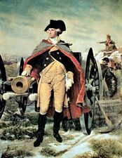 George Washington At Dorchester Heights USA Painting Real Canvas Art Print New