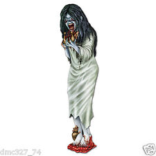 HALLOWEEN Party Prop Decoration Paper Cutout Gory ZOMBIE GIRL Walking Dead 3ft