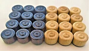 WOODEN DRAUGHTS - CHECKERS  SET 24 PIECES
