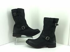 """Abound """"Wesley"""" Black Leather Mid-Calf Motorcycle Boots. Size 11"""