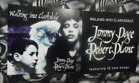 "JIMMY PAGE ROBERT PLANT Clarksdale 1998 2 USA Promo Flats 12"" x 12"" Led Zeppelin"