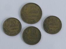 (ref255B) 1953 20 franc coin and 1950, 53 55 10 franc coin French coins
