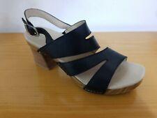 Dansko Ashlee Black Burnished Calf Women's Comfort Sandal  - NEW - Size EU 42