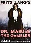 Dr. Mabuse the Gambler (DVD, 2006, 2-Disc Set, Kino) Fritz Lang
