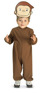 Curious George Monkey Animal Cute Fancy Dress Up Halloween Toddler Child Costume