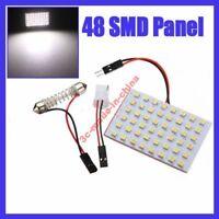 48 SMD 3528 LED Dome/Door/Box Light Panel Interior Bulb+T10 Adapter white 12V