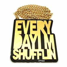 "New Everyday Im Shufflin Pendant & 10mm/36"" Cuban Chain Hip Hop Necklace - CP209"
