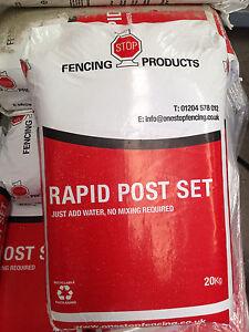 1no Pallet of Post mix/Crete (Fast setting) 60 bags per pallet - 20kg Bags
