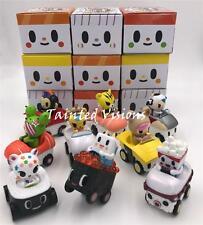 SET OF 9 SUSHI CARS MINI FIGURES (NO CHASE) TOKIDOKI SIMONE LEGNO