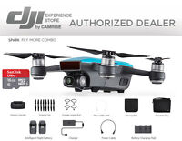 DJI Spark  Fly More Combo Drone Quadcopter in BLUE FREE 16GB MICROSD CARD