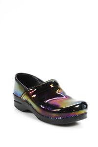 Dansko Womens Round Toe Professional Patent Petrol Sandals Pink Size 40 EUR