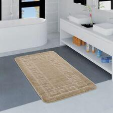 Moderner Badezimmer Teppich Bordüre Badvorleger Rutschfest Badematte In Beige