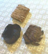 Vintage Fur Sable Mink Beaver Muffs