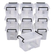 NEW Smart Storemaster Pack Of 10 Clear Plastic Storage Boxes Box & Lid 1.7 Litre
