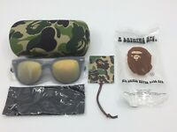 BAPE A Bathing Ape Matte Black/Iridescent Sunglasses 100% Authentic BS13040