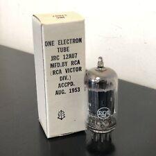 12AU7 VINTAGE RCA NOS BLACK PLATE BOXED VALVE/TUBE