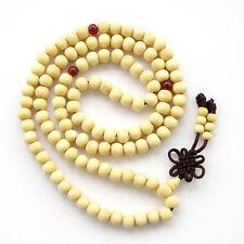 Tibet Buddhist 108 Wood Prayer Beads Mala Necklace