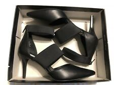 "*NIB* SIMPLY VERA VERA WANG~ BLACK HIGH HEEL ""NEW YORK"" ANKLE STRAP PUMPS~ 10 M"