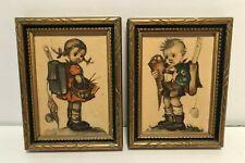 Set of 2 Vintage Hummel Mini Prints Framed - Germany 2.75� x 3.5�