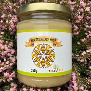 100% Pure Natural Organic Acacia Honey Raw Unprocessed Unheated Natural FREE P&P