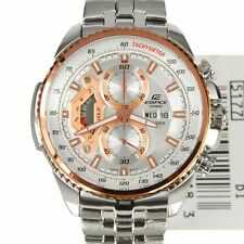 IMPORTED CASIO EDIFICE LUXURY CHRONOGRAPH MEN WATCH WHITE DIAL EF-558D-7AV