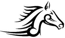 2 x Tribal Pferdekopf seitlich Aufkleber jdm tuning Decal Sticker Decals 14 cm