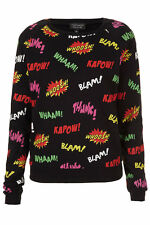 Topshop Wham Bam Pow Comic Pop Art Sweatshirt Sweater