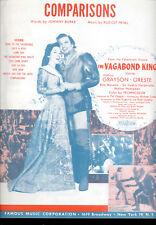 "VAGABOND KING Sheet Music ""Comparisons"" Kathryn Grayson Oreste"