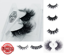 3D Mink Eyelashes Pairs natural False Long Thick Handmade Lashes Makeup UK