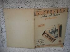 Vintage Music Songbook: SLOVENIAN POLKAS AND WALTZES FOR ACCORDION Vol. 4 (1947)