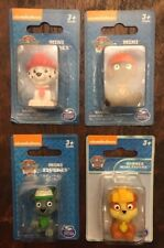 Paw Patrol Mini Figures. Red Marshall, Orange Zuma, Green Rocky, Yellow Rubble