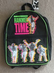 Vintage MC Hammer Time Backpack 1991 Busted Zipper