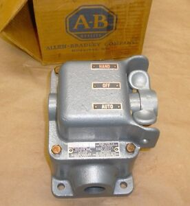 NEW Allen Bradley 800 3HAM7A Hazardous Location Hand Off Auto Selector Switch AB
