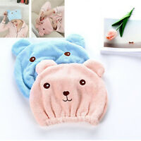 LD_ HK- Coral Fleece Thicken Quick Dry Hair Hat Towel Water Absorption Shower